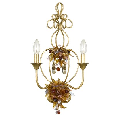 Crystorama Fiore 2 Light Wall Sconce