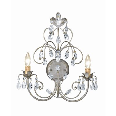 Crystorama Victoria 2 Light Candle Wall Sconce