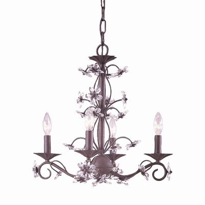 Crystorama Abbie 4 Light Candle Chandelier