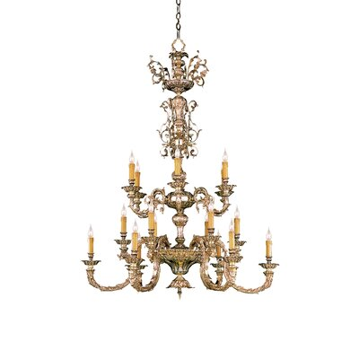 Olde World 18 Light Candle Chandelier by Crystorama