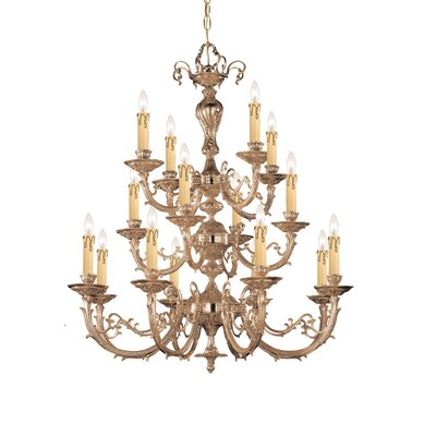 Olde World 16 Light Candle Chandelier by Crystorama