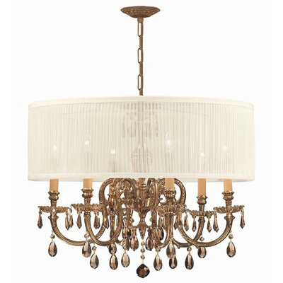 Novella 6 Light Chandelier by Crystorama