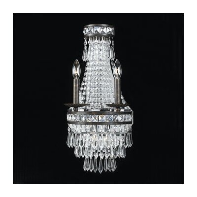Crystorama Traditional Classic Majestic Series 2 Light Crystal Wall Sconce