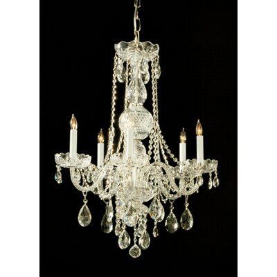 Traditional Crystal 6 Light Chandelier by Crystorama