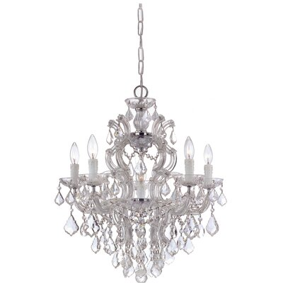 Maria Theresa 5 Light Chandelier by Crystorama