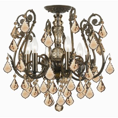 Imperial 6 Light Semi Flush Mount by Crystorama