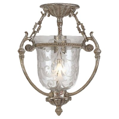La Vella 1 Light Semi Flush Mount by Crystorama