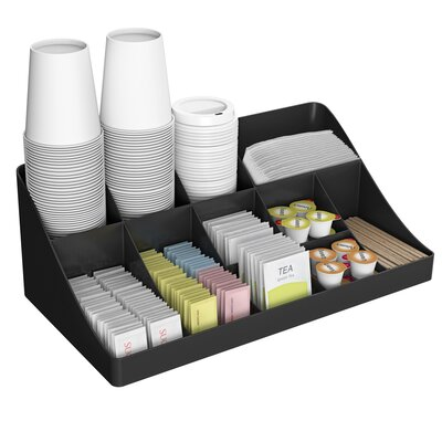 13 Compartment Breakroom Coffee Condiment Organizer by Mind Reader