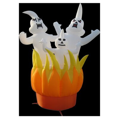 4 Seasons Global Ghosts On Fire Inflatable Halloween Decoration