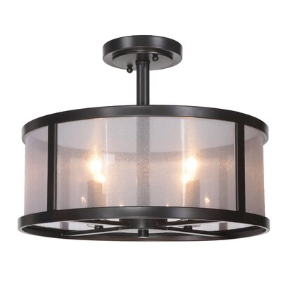 Danbury 4 Light Semi Flush Mount Product Photo