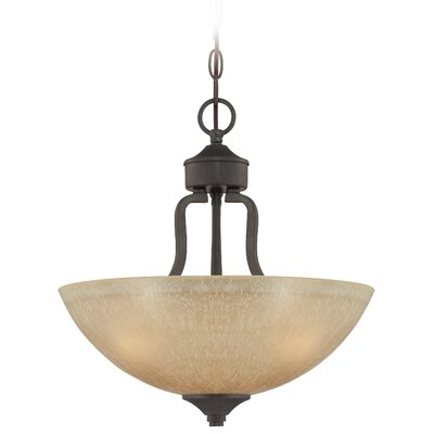 Edgefield 3 Light Inverted Pendant by Jeremiah