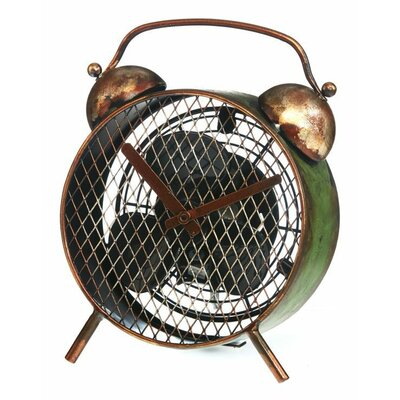 Figurine Fan Alarm Clock Table Fan by Deco Breeze