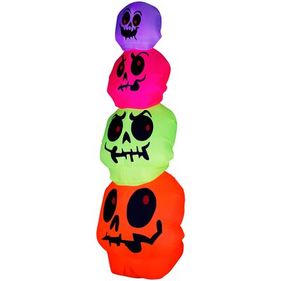 Airblown Halloween Inflatable Skulls Stack Decoration by Gemmy Industries