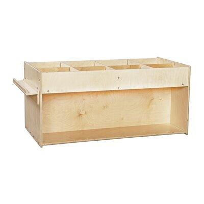 Wood Designs Mobile Book Organizer