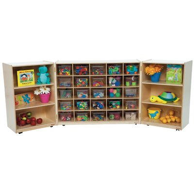 Wood Designs Tri Fold Storage Unit 31 Compartment Cubby