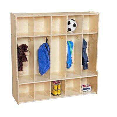 Wood Designs Contender 1 Tier 5-Section Seat Locker