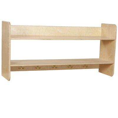 Wood Designs Ten Hook Open Face Wall Locker