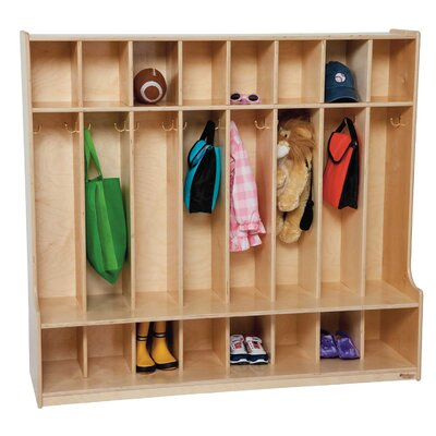 Wood Designs 8-Section Seat Locker Locker 5100