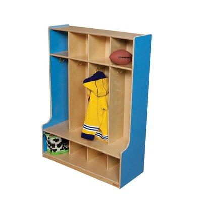 Wood Designs 1 Tier 4-Section Seat Locker