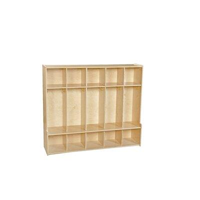 Wood Designs Contender 1 Tier 5-Section Seat Locker