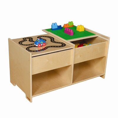 Wood Designs Build-N-Play Table with Racetrack