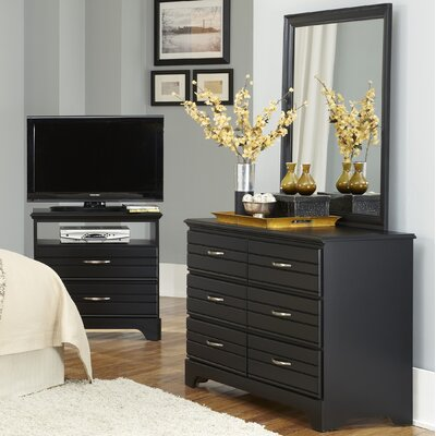 Platinum 6 Drawer Dresser with Mirror by Carolina Furniture Works, Inc.