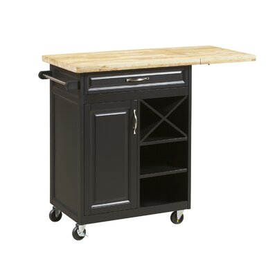 New Visions by Lane Kitchen Island with Butcher Block Top Product Photo