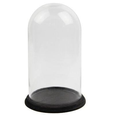 White x White Glass Dome Round on Base