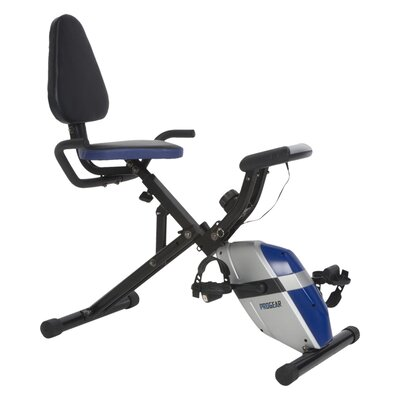 PROGEAR 190 Compact Recumbent Bike with Heart Pulse Sensors by ProGear