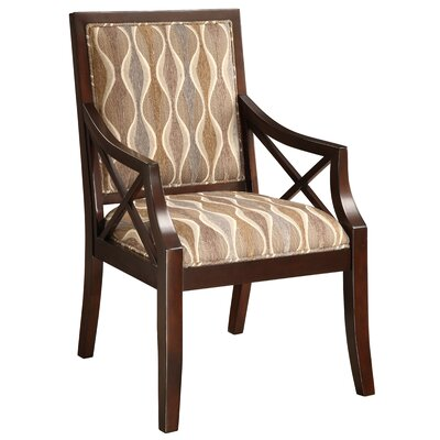 Fabric Arm Chair in Espresso by Coast to Coast Imports