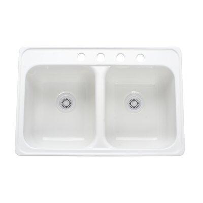 "Lyons Industries Deluxe 33"" x 22"" x 10"" Kitchen Sink"