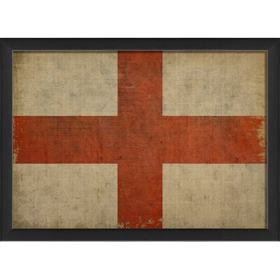 English Flag III Framed Graphic Art by The Artwork Factory