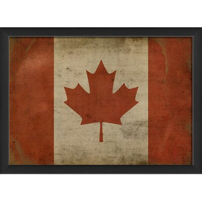 Canadian Flag III Framed Graphic Art by The Artwork Factory