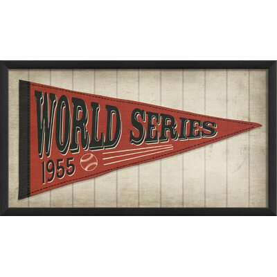 World Series Red Framed Graphic Art by The Artwork Factory