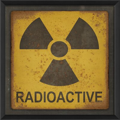 Radioactive Sign Framed Graphic Art by The Artwork Factory