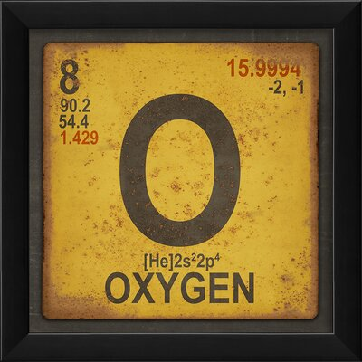 Oxygen Element Framed Textual Art by The Artwork Factory