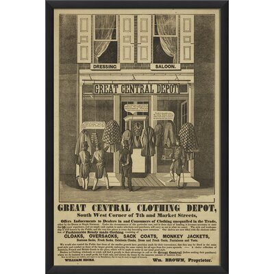 The Artwork Factory Great Central Clothing Depot Framed Vintage Advertisement