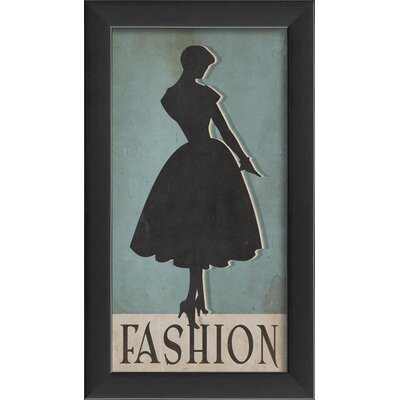 Fashion Silhouette Small Framed Graphic Art by The Artwork Factory