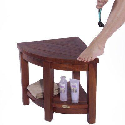 Decoteak Classic Teak Corner Spa Shower Stool