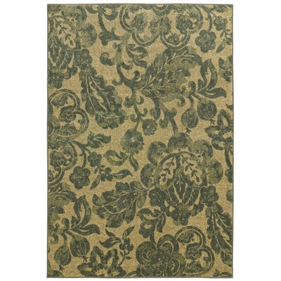 Tommy Bahama Voyage Beige / Blue Floral Rug by Tommy Bahama Home