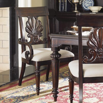 Island Traditions Chester Carved Arm Chair by Tommy Bahama Home