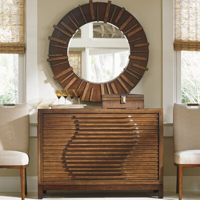 Island Fusion 4 Drawer Dresser with Mirror by Tommy Bahama Home