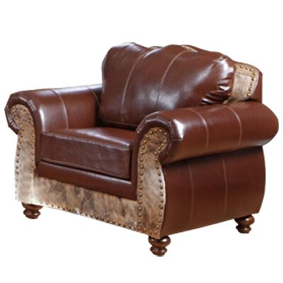 Saddle Me Up Top Grain Leather Chair by Chelsea Home
