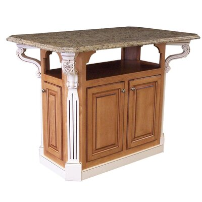 Kitchen Island with Granite Top Product Photo