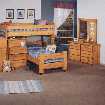 twin l shaped bunk bed customizable bedroom set by chelsea home