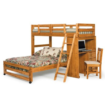 chelsea home twin over full l shaped customizable bedroom set reviews wayfair. Black Bedroom Furniture Sets. Home Design Ideas