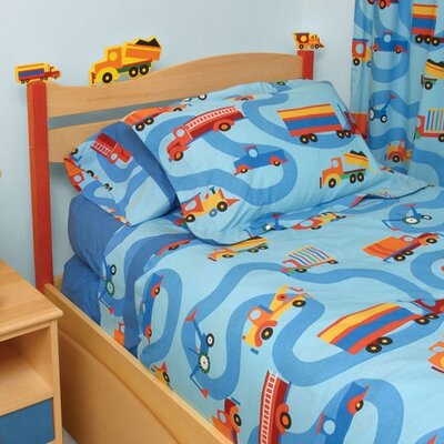 Room Magic Boys Like Trucks Twin Panel Headboard