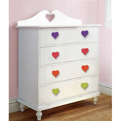 Room Magic Heart 5-Drawer Chest