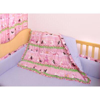 Poodles in Paris 3 Piece Crib Bedding Set by Room Magic