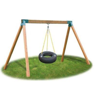Classic Cedar Tire Swing Set Product Photo